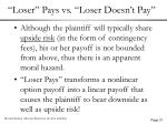 loser pays vs loser doesn t pay37