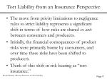 tort liability from an insurance perspective