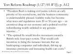 tort reform roadmap 1 27 05 wsj p a12