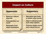 impact on culture