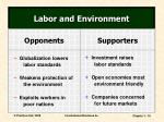 labor and environment