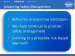 advancing safety management