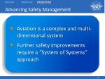 advancing safety management23