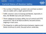 current status of aviation safety