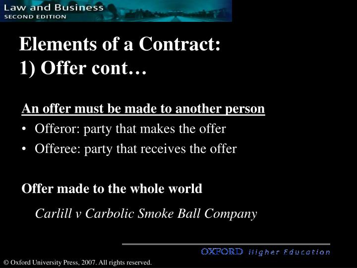 7 elements of a contract