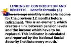 linking of contribution and benefits benefit formula 5