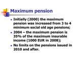 maximum pension