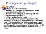 privileges and privileged groups