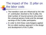 the impact of the ii pillar on the labor costs