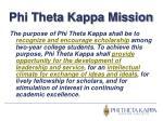 phi theta kappa mission