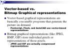 vector based vs bitmap graphical representations