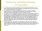 inclusivism and multiculturalism is it possible