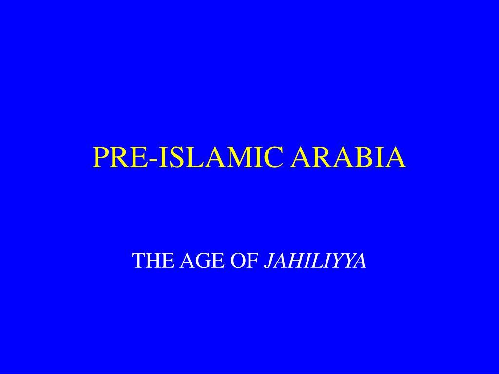pre islamic arabia l.