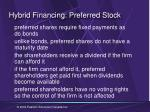 hybrid financing preferred stock