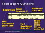 reading bond quotations