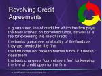 revolving credit agreements