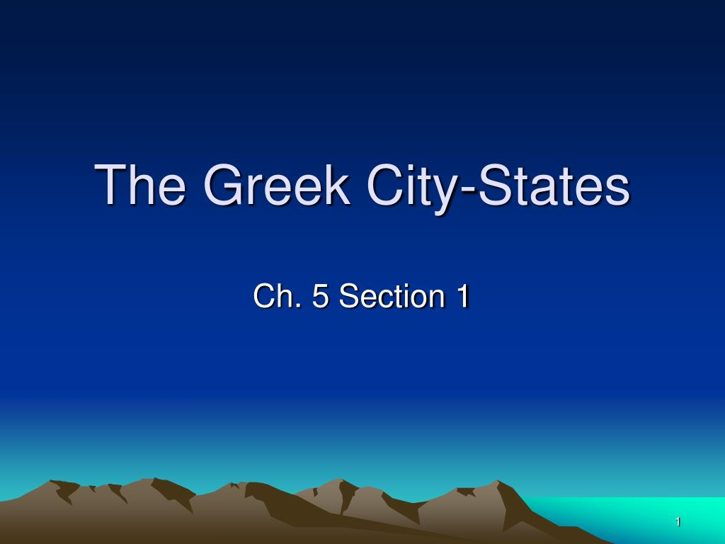 The Greek City-States