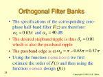 orthogonal filter banks24