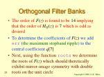 orthogonal filter banks25