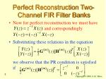 perfect reconstruction two channel fir filter banks5