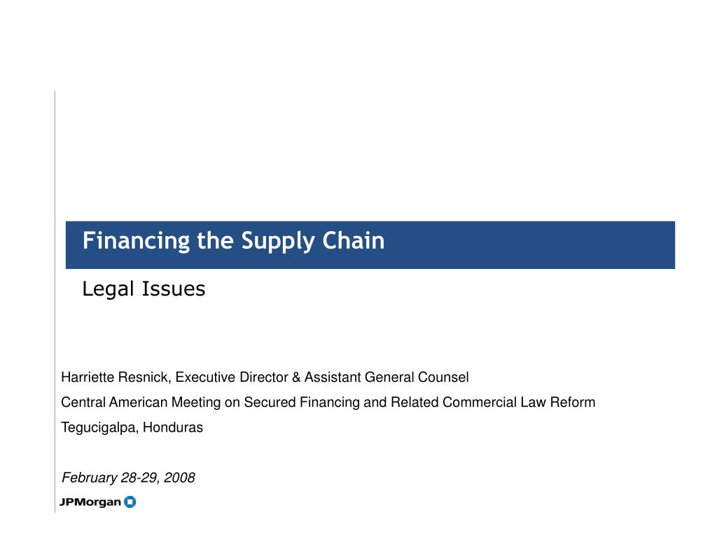 financing the supply chain l.