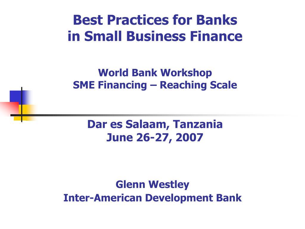 glenn westley inter american development bank l.
