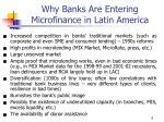 why banks are entering microfinance in latin america
