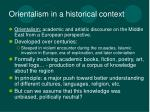 orientalism in a historical context
