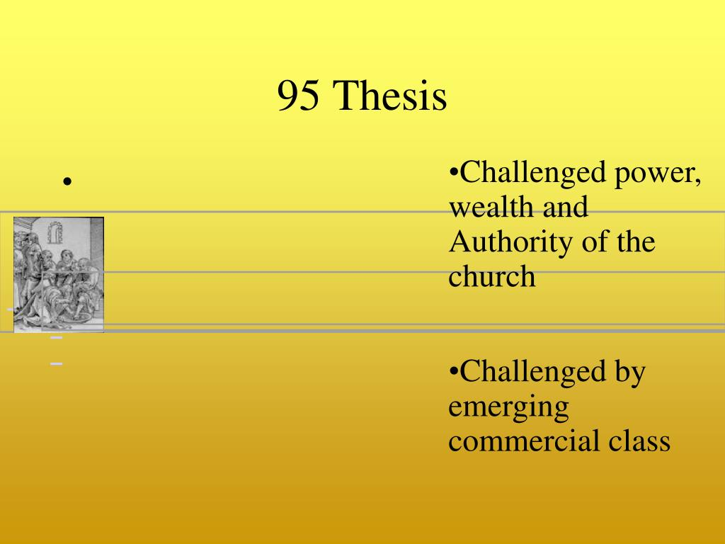 95 Thesis