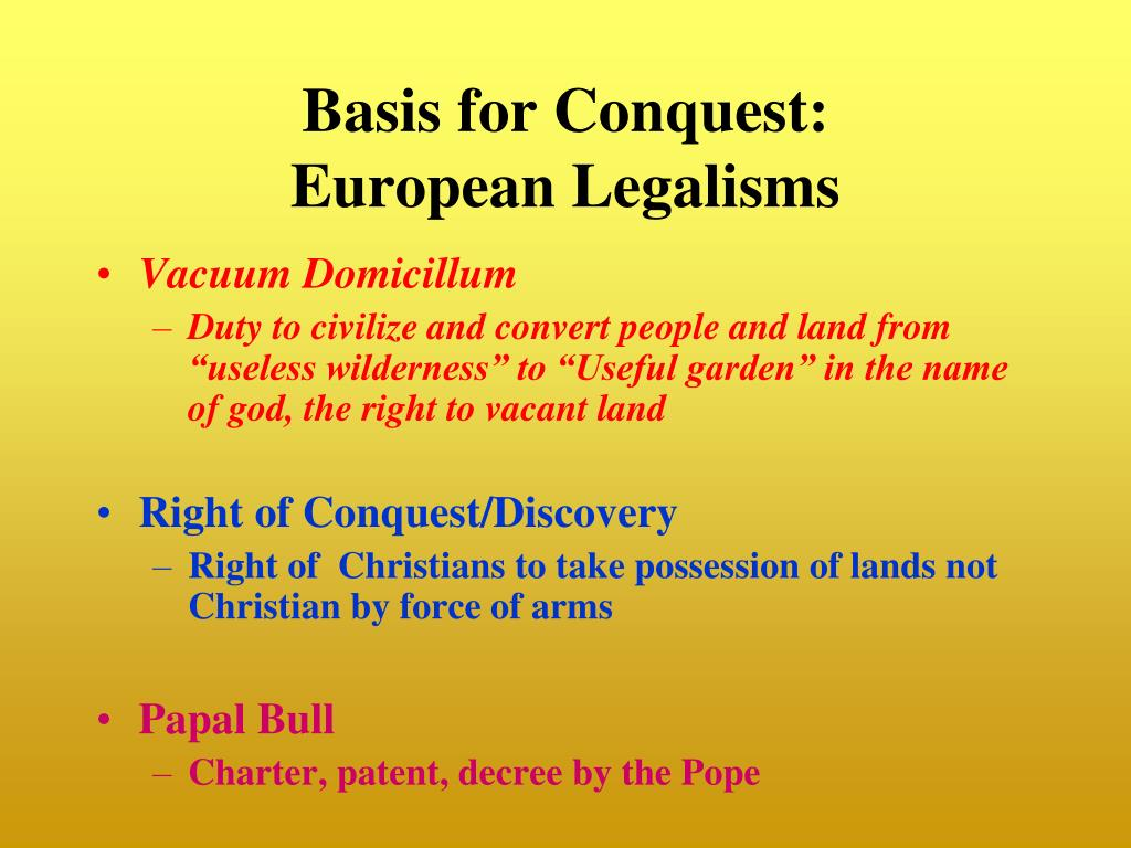 Basis for Conquest: