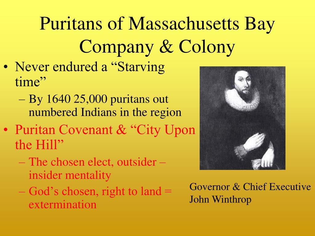 Puritans of Massachusetts Bay Company & Colony
