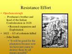 resistance effort