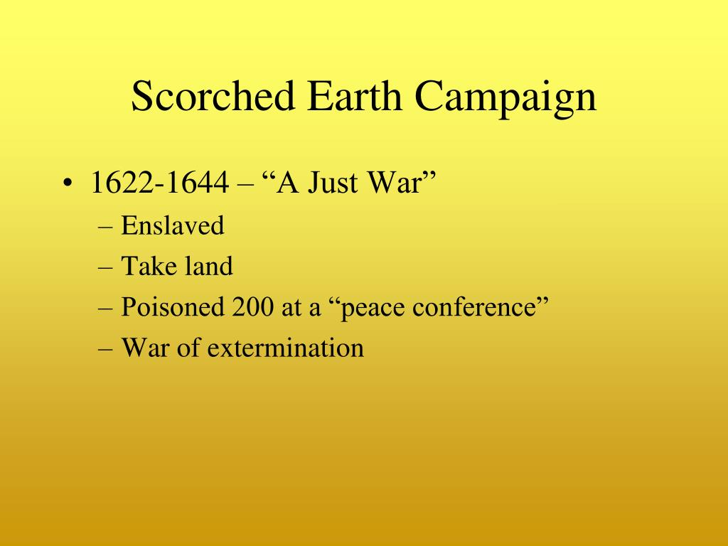 Scorched Earth Campaign