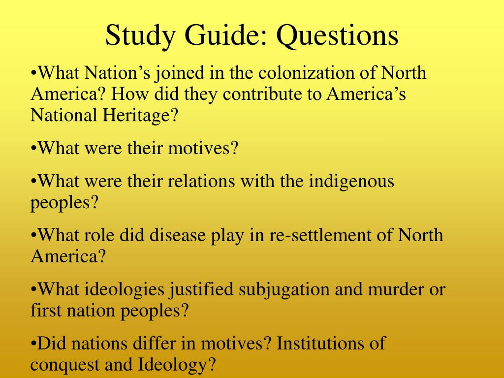 Study Guide: Questions