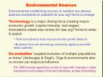 environmental sources