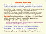 genetic sources