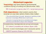 historical legacies