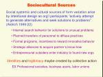 sociocultural sources