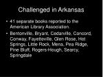 challenged in arkansas