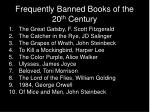 frequently banned books of the 20 th century