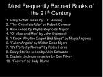 most frequently banned books of the 21 th century