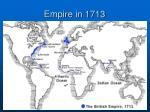 empire in 1713