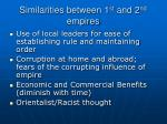 similarities between 1 st and 2 nd empires