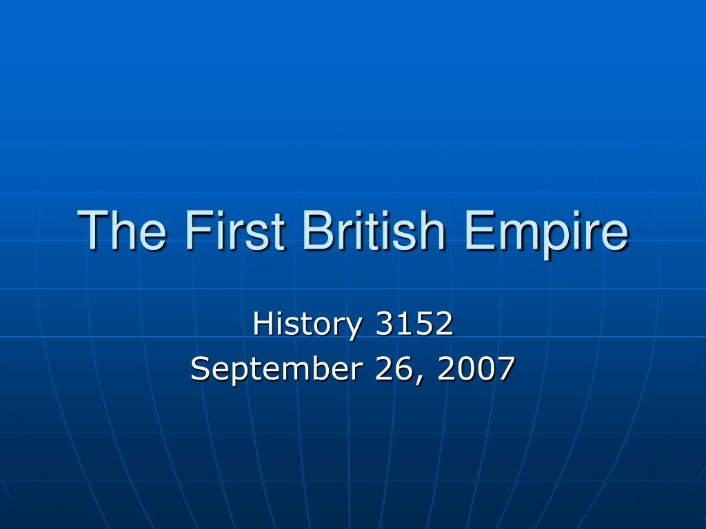 the first british empire l.