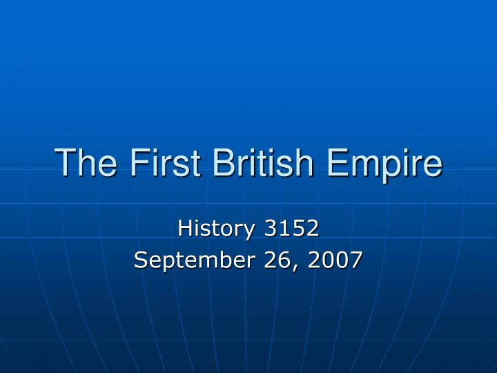the first british empire n.