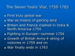 the seven years war 1756 1763