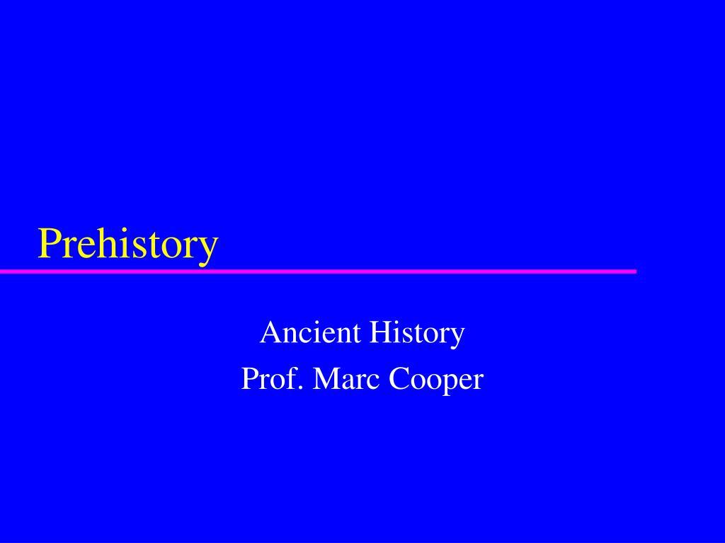 prehistory l.