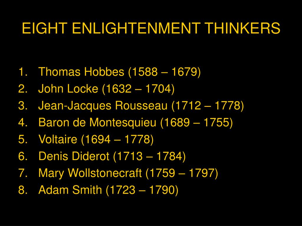 eight enlightenment thinkers l.