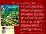 the chinese effect on tibet