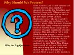 why should we protest